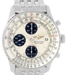 Breitling Breitling Navitimer Fighter Chronograph Silver Dial Steel Watch A13330