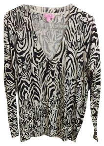Lilly Pulitzer Top White And Brown Tiger Print .