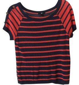 H&M Top Red and navy