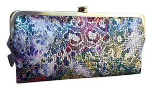 Hobo International Lauren Wallet Leather EXOTIC ABSTRACT Clutch