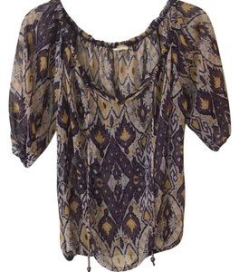 Needle & Thread Top Multi color pattern/ yellow and purples