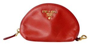 Prada Prada Red Leather Coin Purse