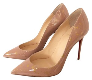 Christian Louboutin Chrisitan Nude Gold Pumps