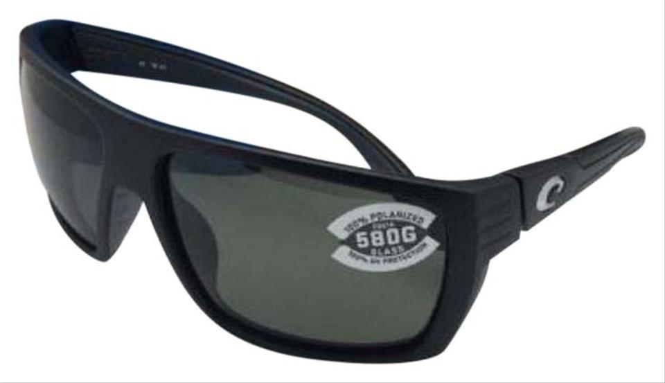 5bc0a6c4e Costa Del Mar Polarized COSTA Sunglasses HAMLIN HL 11 Matte Black Frame w/  580 Grey ...