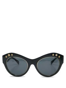 Versace Versace Black Plastic with Gold Grommets 4320 Cat Eye Sunglasses