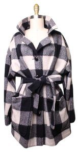 Woolrich Plaid Wool Trench Coat