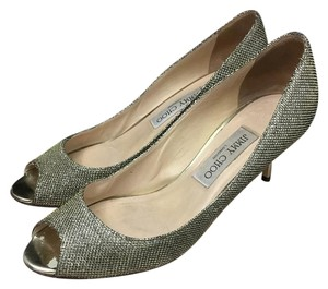 Jimmy Choo Stiletto Glitter Bronze Formal