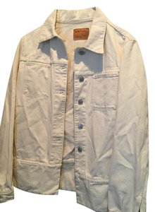 Helmut Lang Cream Womens Jean Jacket