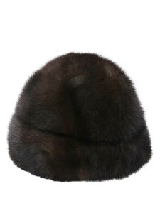 Dark Brown Mink Fur One Size Hat