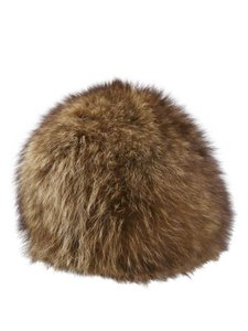 Other Brown Beige Rabbit Fur Dome Shape Hat One Size