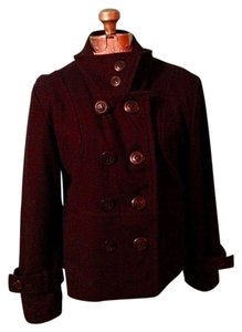 Coffee Shop Wool Lined Pea Coat
