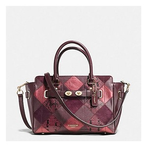 Coach Satchel in Gun Metal Cherry