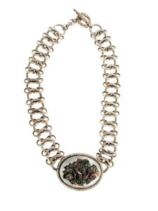 Stephen Dweck Stephen Dweck carved oval mother of pearl diamond necklace