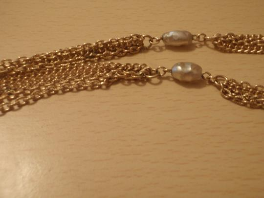 Unknown Custom necklace with pretty beads gold tone/plated Image 1