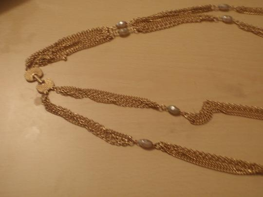 Unknown Custom necklace with pretty beads gold tone/plated Image 3