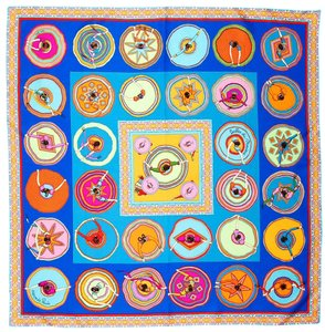 Hermès Hermes Scarf Belles Du Mexique New in Box with Tag