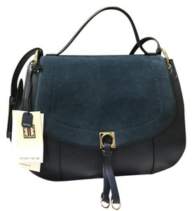 Ivanka Trump Leather Claudia Satchel in Blue