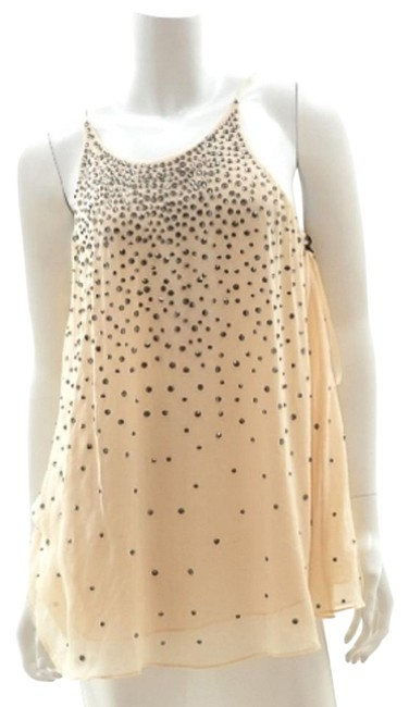16c2a149235dab MILLY Silk Blouse W  Rhinestones Top Nude - 54% Off Retail 60%OFF ...