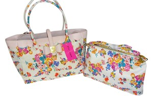 Betsey Johnson Floral Tote in bone multi