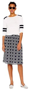 J.Crew Polka Dot Skirt Navy Blue White