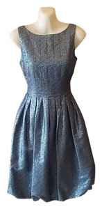 Maggy London Metallic Brocade Dress