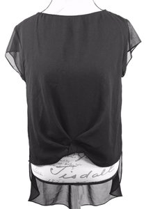 Zara Sheer Nighout Sheer Top black sheer