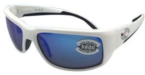Costa Del Mar Polarized COSTA Sunglasses FANTAIL TF 25 White w/ Blue Mirror