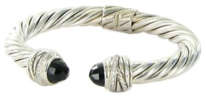 David Yurman David Yurman Crossover Bracelet 8.5mm Onyx 0.15cts Diamond Sterling