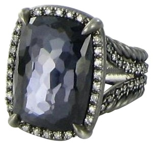 David Yurman David Yurman Chatelaine Ring Hematine Amethyst Diamond Black Sterling