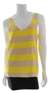 Tibi Top Yellow/Tan