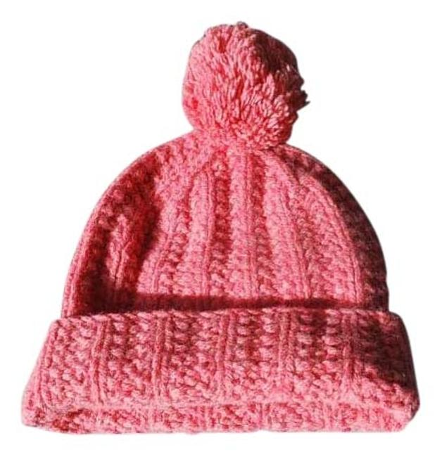 Item - Pink Wool Cable Knit Beanie Cap A&f Ski Rate Hat