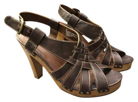 xhilaration Studded Crisscross Strap Chunky brown Platforms