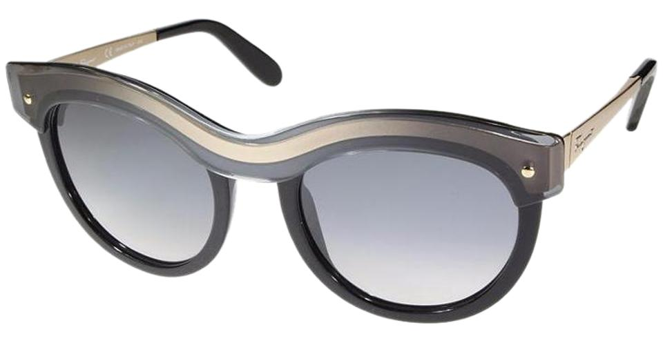 3bd5287c89 Salvatore Ferragamo Black New with Case Cat Eye Sunglasses - Tradesy