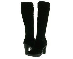 La Canadienne Suede Boot Knee High Black Boots