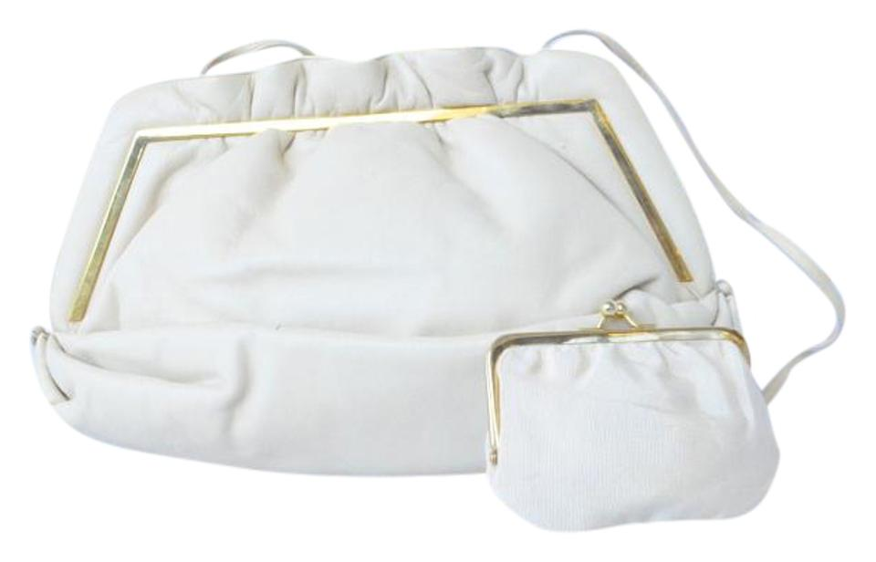 Judith Leiber Evening Clutch Ivory Leather Baguette - Tradesy b8587c393964a