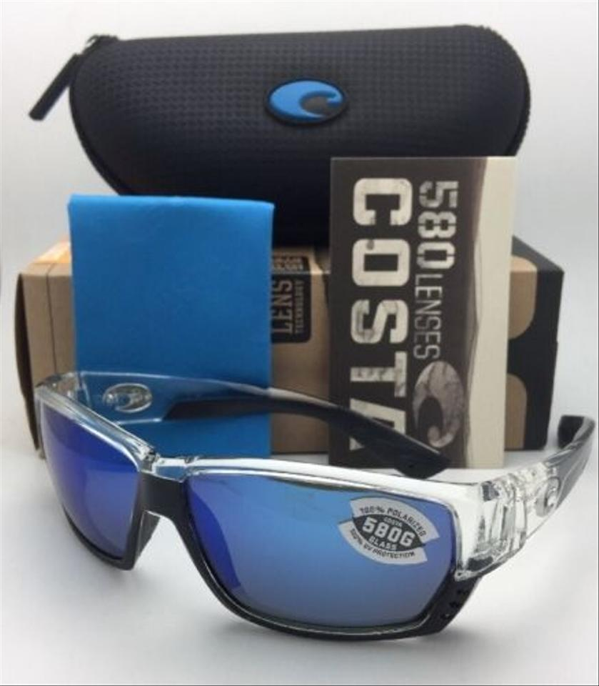 fd1a7ea5cb9 Costa Del Mar Polarized COSTA Sunglasses TUNA ALLEY TA 39 Crystal w Blue  Mirror Image. 12345678