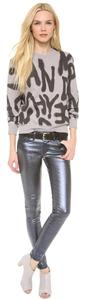 AG Adriano Goldschmied Silver Coated Metallic Skinny Skinny Jeans-Coated