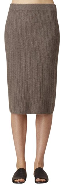 Item - 'anneli' Oatmeal Cashmere Ribbed Knit Pencil Skirt Size 0 (XS, 25)