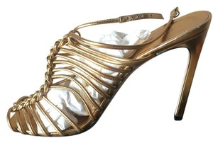 Gucci Strappy Size12 Gold Sandals