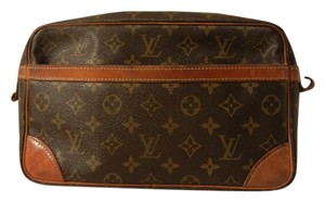 Louis Vuitton Compiegne 28 Lv Brown Monogram Clutch