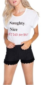 Wildfox Naughty Nice Couture T Shirt White