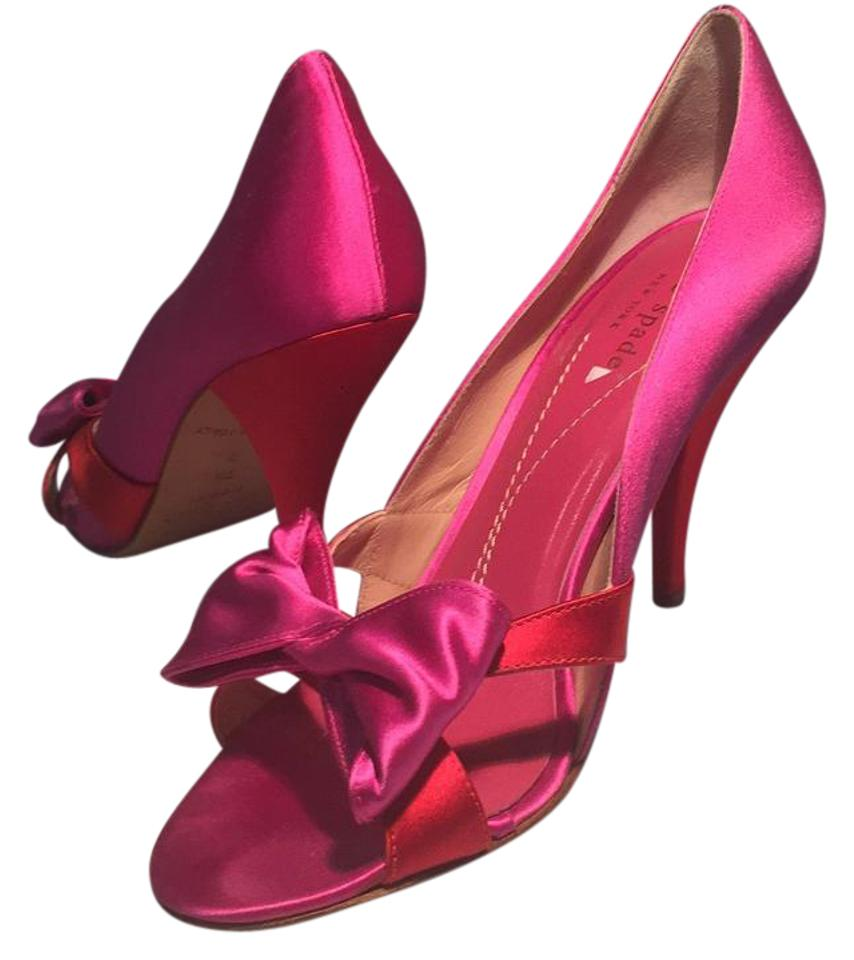 ed0dfdcb2214 Kate Spade Pink Red Satin Pink Red Formal Shoes Size US 7.5 Regular ...
