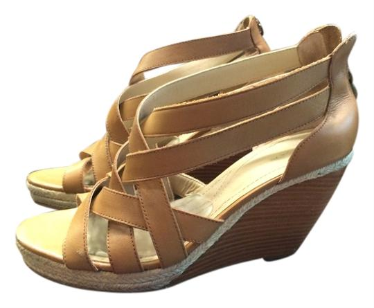 Tahari Sandals Tan Wedges