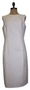 Brooks Brothers Seersucker Striped Sheath Dress