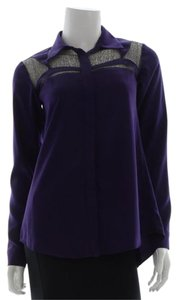 Nanette Lepore Button Down Shirt Purple