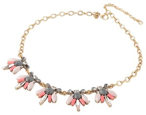 J.Crew New J. Crew Grey Coral & Cubic Zirconia Crystal Statement Necklace