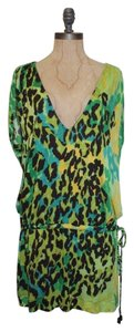 Diane von Furstenberg short dress green Pool Beach Cover Up Drop Waist Loose Fit on Tradesy