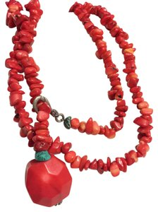 Other Vintage Red Branch Coral Beaded Strand Necklace