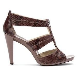 Michael Kors Leather Snake Open Toe Grey Sandals