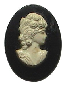 Vintage White Cameo Pin/Brooch